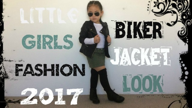 'Little Girls Biker Jacket Look 2017 Fashion Clothes Outfit For Kids/Toddlers'