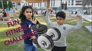 'Fitness Challenge | 5 Minutes Kids Workout | Kids exercises I Siblings Edition | Kids Explorer'