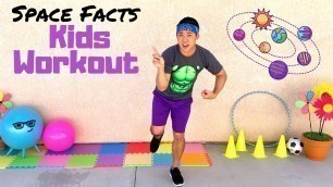 'Fitness + Facts   Kids At Home Workout   Exercise & Learn About SPACE'