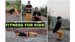 'Fitness Basics For Kids    Kids Workout Video In Hindi    Kids Exercise Tips'