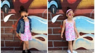 '2017 GIRLS TODDLER KID FASHION LOOKBOOK OUTFIT CLOTHING ONE DRESS TWO OUTFITS'