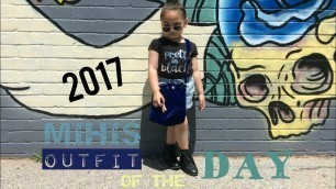'MIHIS OUTFIT OF THE DAY! BABY GIRLS KIDS FASHION OUTFIT 2017'