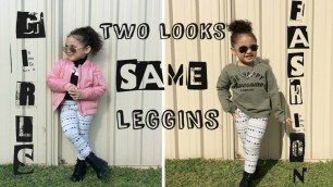 'TWO LOOKS WEARING THE SAME LEGGINGS! BABY/GIRL/KIDS FASHION/OUTFIT/LOOKBOOK'