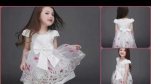 'Kids and Baby Summer Dresses Collection 2017 | Flower Girls Dresses, Party Gowns'