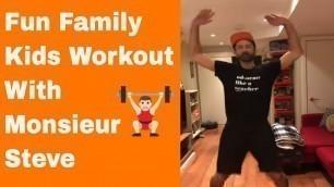'BRAIN BREAK: Fun Family Kids at Home Workout #1 // Kids Fun Fitness Video // No Equipment'