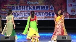 'Ladies Fashion Show at DATA Bathukamma & Dasara Panduga Celebrations 2016'