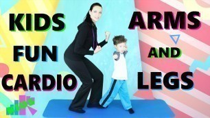 'Kids Cardio Exercises with Arms and Legs   Fitness Eat Right Fit Right'