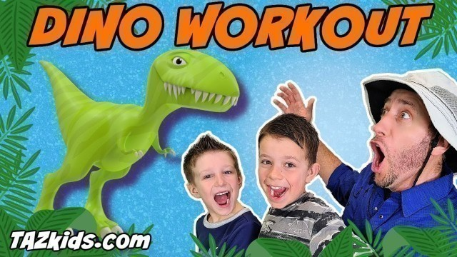 'KIDS DINOSAUR WORKOUT! With DINO FUN FACTS!  A Fitness and Exercise Adventure!'