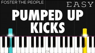 Foster The People - Pumped Up Kicks   EASY Piano Tutorial