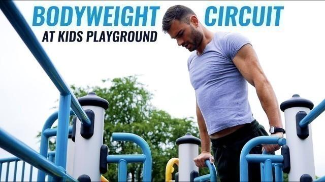 'Bodyweight Circuit at Kids Playground'