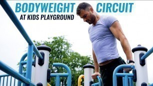'Bodyweight Circuit at Kids Playground'