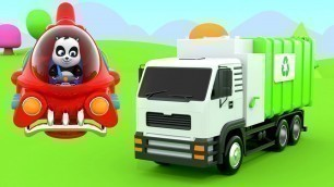 'Garbage Truck Assembly | Construction Vehicles For Kids - Pinky & Panda KIDS TV'