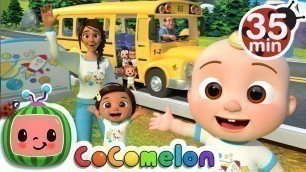 'Wheels On The Bus (School Edition)  + More Nursery Rhymes & Kids Songs - CoComelon'