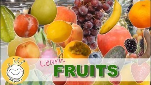 'Learn Fruit for Kids -  Real Fruits and Fruits Cross Section Pictures'