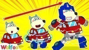 'Wolfoo Becomes Transformers - Funny Stories About Toys | Wolfoo Channel Kids Cartoon'