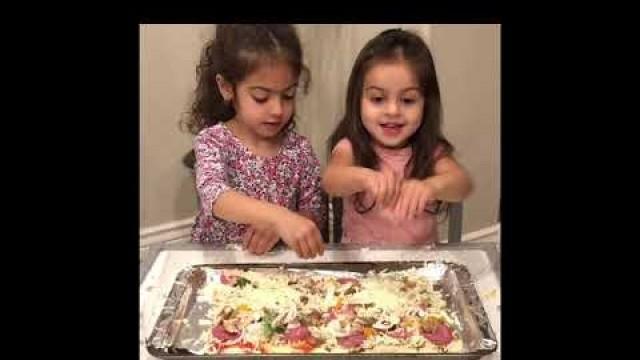 'Persian vs. Italian pizza! Kids cooking'