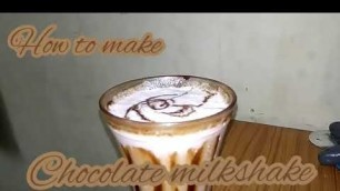 'Kids cooking - chocolate milk shake'