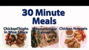 'Kidney Friendly Cooking Videos  - 30 Minute Meals'