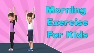 'Exercise For Kids At Home With Music | Morning Workout for kids | NuNu Tv'