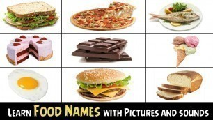 'Learn Foods Names with Pictures and sounds, for Kids'