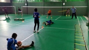 'Badminton circuit training for kids'