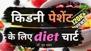 'किडनी पेशेंट के लिए diet चार्ट    Diet for kidney patients  Kidney failure diet'