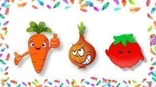 'Learning vegetables song with pictures, Kids rhymes'