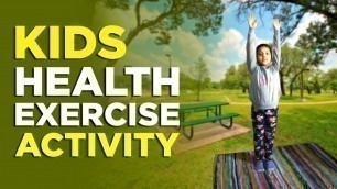 'Kids Exercise Activity Video | kids workout videos at home, online activity for kids | kids exercise'
