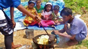 'ASMR Cooking kids | Village Children Cooking Show | Kids Picnic - Cooking Into Nature'