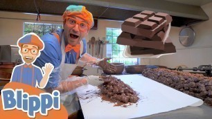 'Blippi Visits A Chocolate Factory | Educational Videos For Kids'