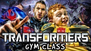 'Kids Workout! TRANSFORMERS GYM CLASS! Real-Life VIDEO GAME! Kids Workout Videos, DANCE, & P.E. FUN!'