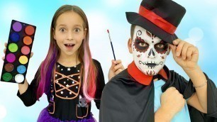 'Sofia and Dad Chooses a Halloween Costume & going to Party'