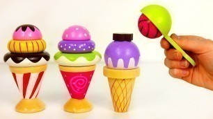 'Ice Cream Cones Popsicles and Scooper Playset for Kids'