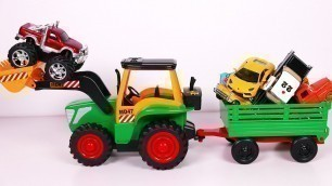 'Big Toy Tractor Playset for Kids with Many Vehicles Toys for Children'