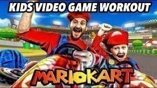 'Kids Workout! MARIO KART! Real-Life VIDEO GAME! Kids Workout Videos, DANCE, FITNESS, & TOY SURPRISE!'