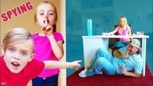 'Spying on Jazzy to Sneak Surprise Toys! Kids Fun TV!'