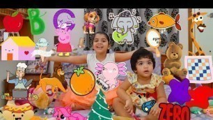 Kids Learn ABC | Sister Teaching Baby | Toys and Animation | Learn English Alphabet for Children