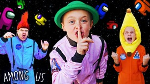 'We Played Among Us Game In Person! Who Is The Imposter? Kids Fun TV (Imposter 999 IQ)'